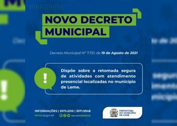IMAGEM: Divulgação/Prefeitura de Leme